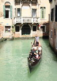 Water channel with gondola in Venice Royalty Free Stock Photo
