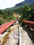 Water channel of hydropower station. At foothill Stock Photography