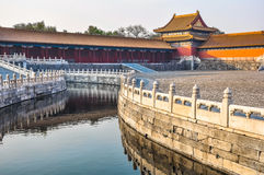 Water channel in the Imperial Palace in Beijing Stock Photography