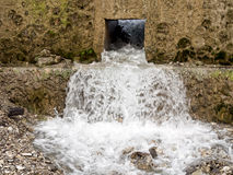 Water channel, management or conservation. Gushing managed water - for conservation Royalty Free Stock Images