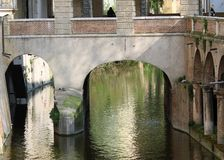 Water channel of Mantua via Pescheria ancient means of communica Royalty Free Stock Image