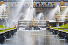 Water channel in Peterhof Royalty Free Stock Photography