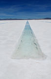 Water channel on a salt lake Royalty Free Stock Photo