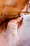 Water channel in Siq Royalty Free Stock Photo