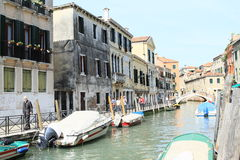 Water channel in Venice Royalty Free Stock Photo