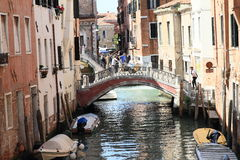 Water channel in Venice Stock Photo