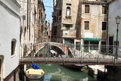 Water channel in Venice Royalty Free Stock Photos