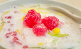Water Chestnut dessert closeup Royalty Free Stock Images