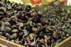 Water chestnuts at a street market. Water chestnuts at a traditional street market in Taipei, Taiwan stock photography
