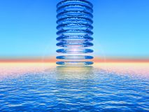 Water circles. Science fiction illustration,circles of water Royalty Free Stock Image