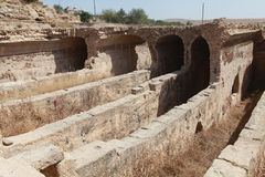 Water cistern in Dara Ancient City, Mardin. Royalty Free Stock Photos