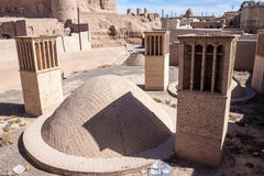 Water cistern. In desert town Naein in Iran stock photography