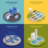 Water Cleaning Concept Icons Set vector illustration