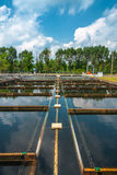Water cleaning facility Stock Image