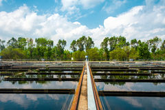 Water cleaning facility Royalty Free Stock Images