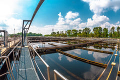 Water cleaning facility Royalty Free Stock Photo