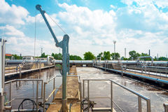 Water cleaning facility Royalty Free Stock Image