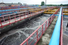 Water cleaning facility outdoors Royalty Free Stock Photography
