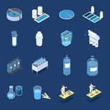Water Cleaning Systems Isometric Icons vector illustration