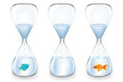Water Clocks. Vector Stock Image