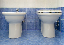 The water-closet and bidet Stock Image