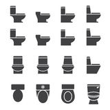 Water closet icon set Royalty Free Stock Images