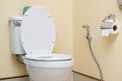 Water closet in Toilet Stock Photo