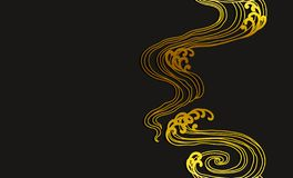Abstract water wave line art seamless wallpaper vector illustration