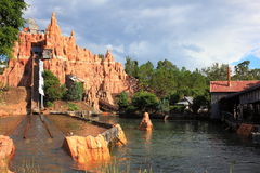 Wild West Falls log flume ride scenery Royalty Free Stock Photos