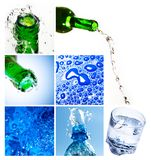 Water collage Royalty Free Stock Images