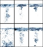 Water collage Royalty Free Stock Photography
