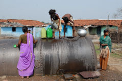 Water Collecting. In Jharia coalfield, the groundwater level is dependent mainly upon the presently existing topography, geomorphic features such as, abandoned Royalty Free Stock Photos
