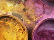 Water-color 01. Purple and yellow watercolours Royalty Free Stock Photo