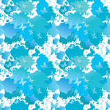 Water color blue grunge seamless background Stock Photography