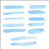 Water color brush on paper Royalty Free Stock Photography