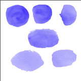Water color brush on paper Royalty Free Stock Photos