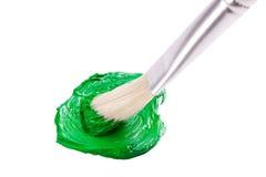 Water-color con el cepillo Fotografía de archivo libre de regalías