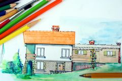 Water color drawing  Stock Photography