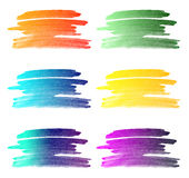 Water color gradient strokes background collection Stock Image