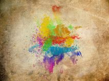 Water color on old paper texture Royalty Free Stock Photography