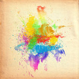 Water Color On Old Paper Texture Stock Photos