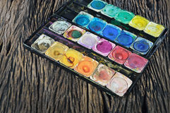 Water color paint box Royalty Free Stock Photography