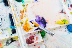 Water color paint brush Stock Photography