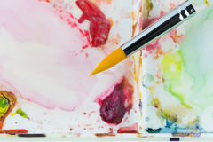 Water color paint brush Royalty Free Stock Photo