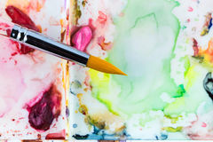 Water color paint brush Royalty Free Stock Photography