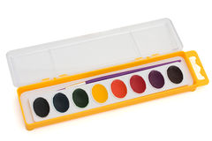 Water color paint set Royalty Free Stock Image