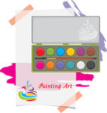 Water color and paint strokes. Painting art stock photography