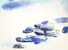 Water color painting Stock Photography