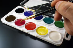 Water color paints for drawing Stock Photos