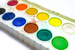 Water color palette Stock Photography